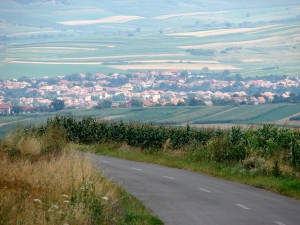 Daia Română, de pe culmea dealului spre Ciugud