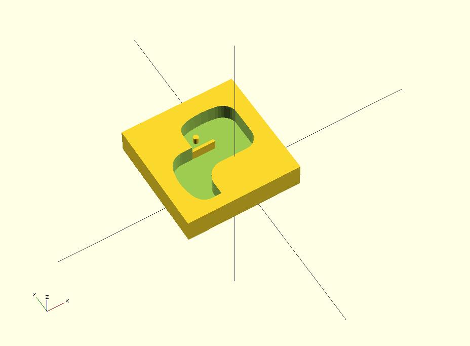 șablonul pentru jumătate din logo-ul Python. Cealaltă jumătate este, evident, identică