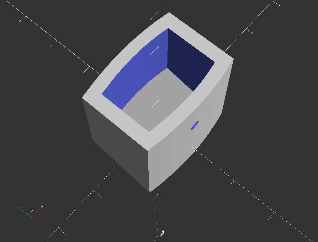 Mai de deasupra e evident unde cum am extrudat forma din Inkscape